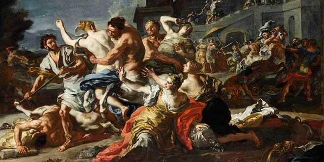 batalla contra centauros