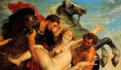 Los Dioscuros: Castor y Polux raptando
