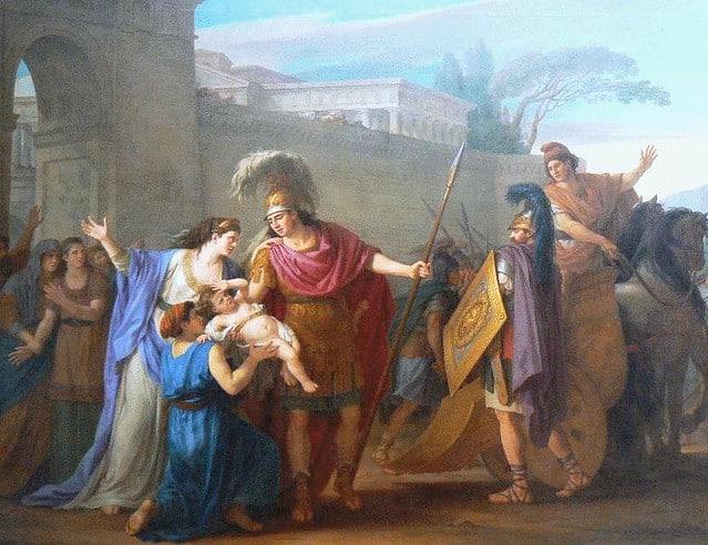 Despedida de Hector y Andrómaca