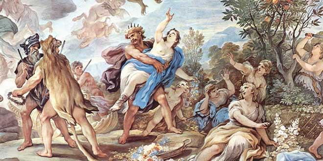 Perséfone es raptada por Hades