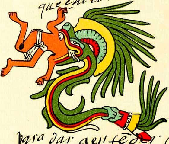 Quetzalcoatl en la forma de serpiente