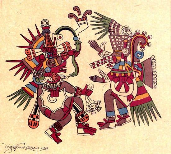 Quetzalcoatl y Tezcatlipoca