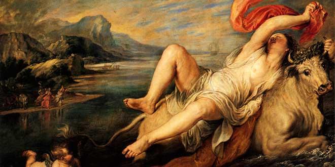 El rapto de Europa por Zeus