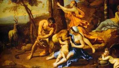 Zeus es amamantado por Amaltea